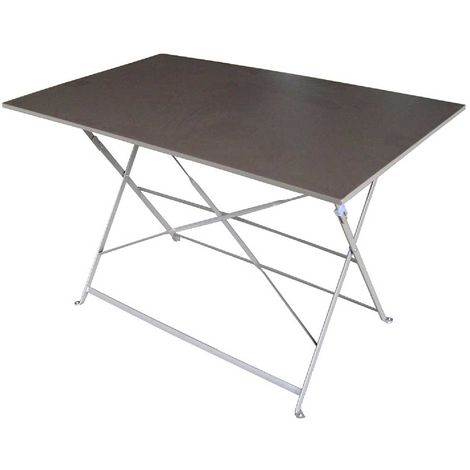 Tavolo da giardino pieghevole in ferro 120x60cm per esterno pub Bistrò Bianco