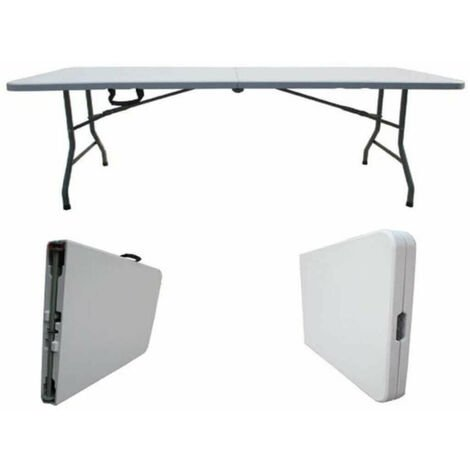 Tavoli Pieghevoli Per Ristoranti.Tavolo Catering Pieghevole Rettangolare In Metallo E Abs Bianco 180