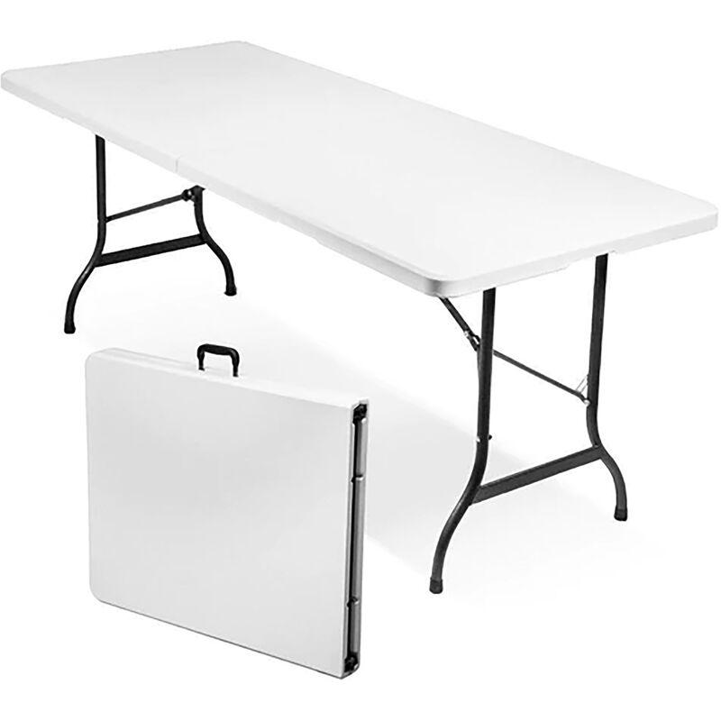 Tavoli Pieghevoli Plastica Per Catering.Tavolo Catering Rettangolare In Metallo E Abs Bianco 240 X 76 Con