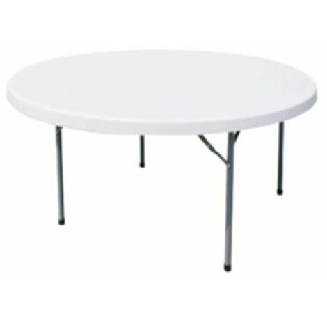 Tavoli Con Gambe Richiudibili.Tavolo Catering Rotondo In Metallo E Abs Bianco O 180 Con Gambe
