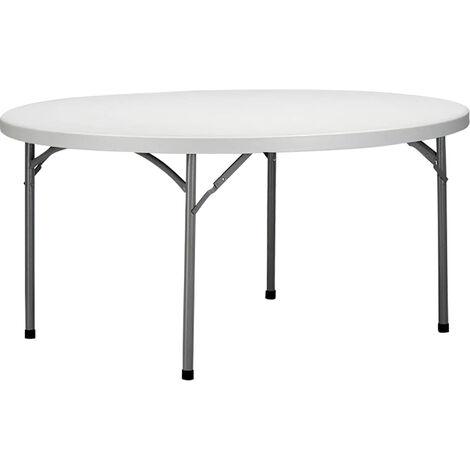 Tavoli Pieghevoli Plastica Per Catering.Tavolo Catering Rotondo In Metallo E Abs Bianco Diametro 150 Con