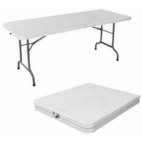 Tavoli Con Gambe Richiudibili.Tavolo Con Piano E Gambe Pieghevoli Bianco 183x76xh74 Cm