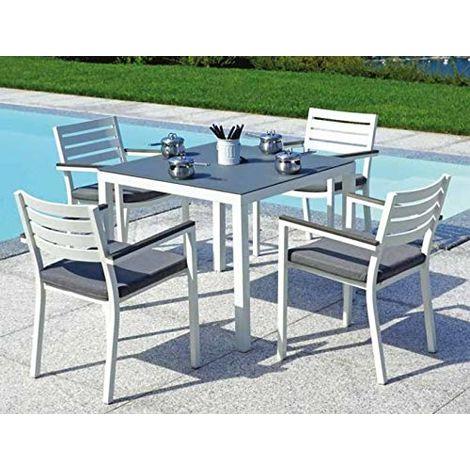 Tavolo Da Esterno Con Sedie.Tavolo Con Sedie Per Giardini E Bar In Alluminio Quattro Posti