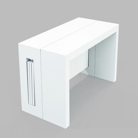 Tavolo Consolle Allungabile Bianco.Tavolo Consolle Allungabile Clever Larga 120 Con Allunghe
