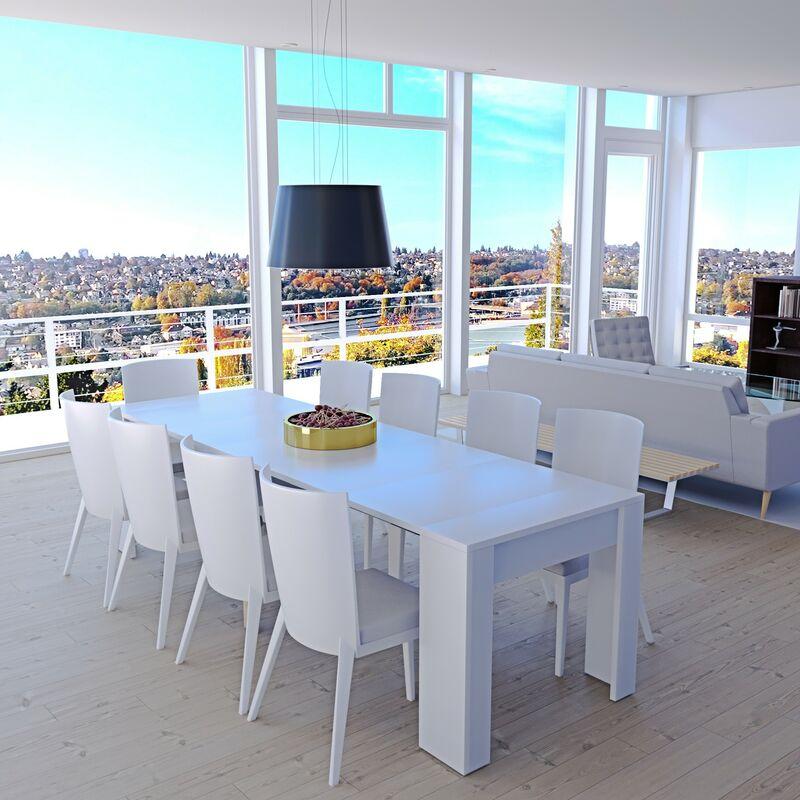 Tavolo consolle allungabile Oslo 10 posti economico salvaspazio  multiposizione