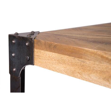Tavolo Da Bar Quadrato Design Industriale Legno E Metallo Madison 41219