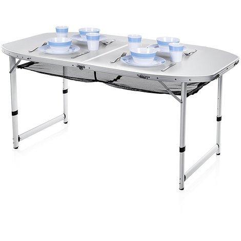 Tavoli Per Camper Allungabili.Tavolo Da Campeggio Giardino Portatile Per Camper Con Piano In Alluminio