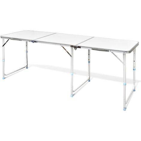 Tavoli Da Campeggio In Alluminio Pieghevoli.Tavolo Da Campeggio Pieghevole Alluminio Altezza Regolabile 180 X 60cm