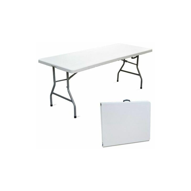 Tavolo Tavolino Pieghevole Richiudibile Resina Metallo Camping Campeggio 50617V Cm 180X75X74 H (50617)