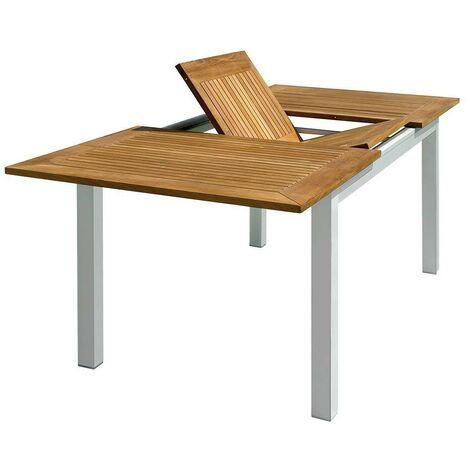 Tavoli In Alluminio Da Esterno.Tavolo Da Esterno Allungabile In Alluminio E Teak