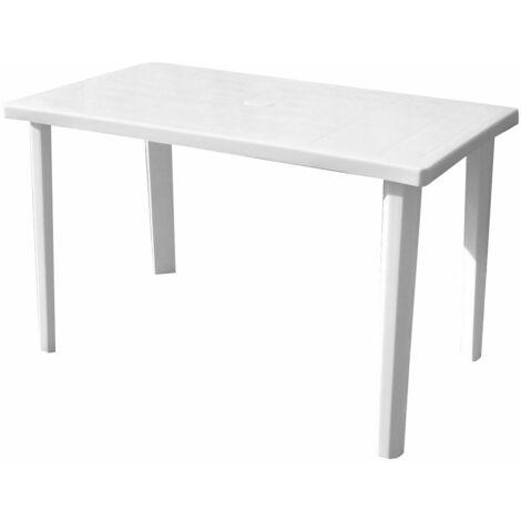 Tavolo Da Giardino Bianco.Tavolo Da Giardino 120x70x72 Cm In Resina Bauer Bianco