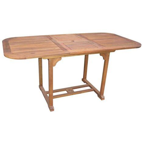 Tavoli Da Giardino Per Esterno.Tavolo Da Giardino 120x80 Allungabile In Legno Per Esterno