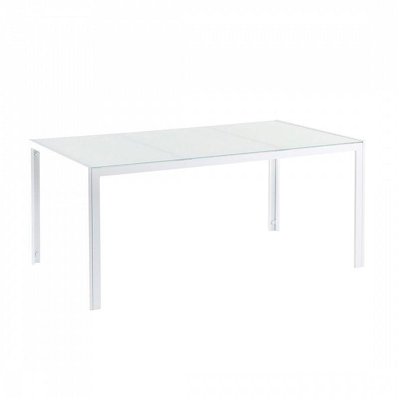 Tavoli Da Giardino Catania.Tavolo Da Giardino 160cm In Alluminio Bianco Con Piano In Vetro Catania