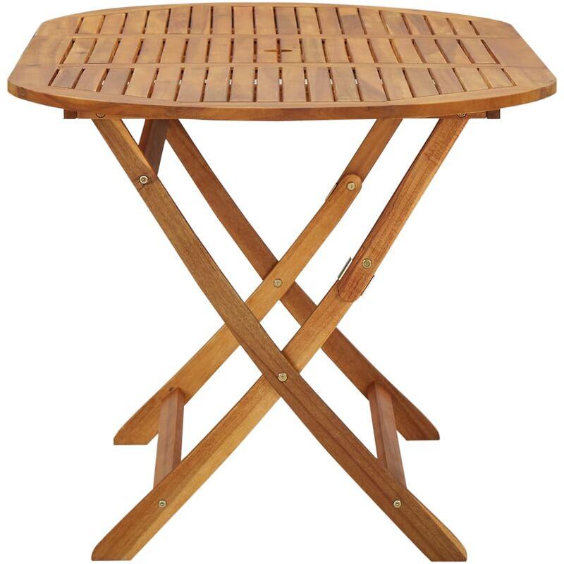 Tavoli Da Giardino In Acacia.Tavolo Da Giardino 160x85x75 Cm In Legno Massello Di Acacia