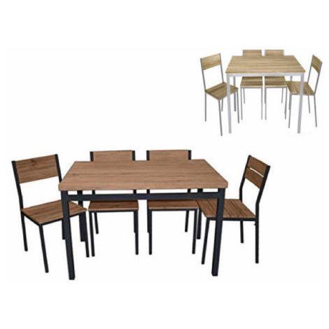 Arredamento Tavolo Da Giardino.Tavolo Da Giardino 4 Sedie Legno Rettangolare Kit Rovere Arredo Esterno 2s