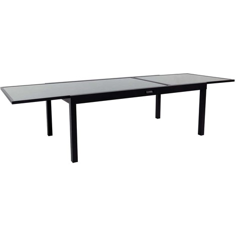 Tavoli Da Esterno In Resina Allungabili.Tavolo Da Giardino Allungabile In Alluminio Porto 12 Phoenix Nero