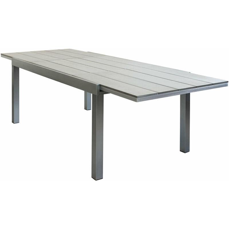 Tavolo Da Giardino Allungabile In Alluminio Spazzolato 180 ...