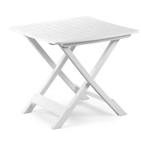 Tavoli Da Giardino Pieghevoli Plastica.Tavolo Da Giardino Campeggio In Plastica Pieghevole Tevere Bianco Ipae Progarden
