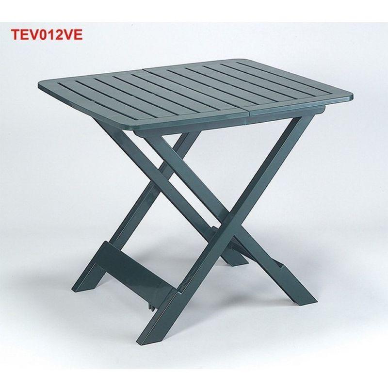 Tavoli Da Giardino Pieghevoli In Plastica.Tavolo Pieghevole Tevere Verde 79x72 Giardino Arredo Esterno Ipae