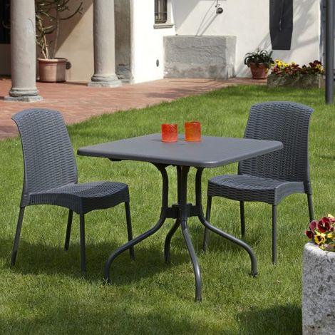 Tavoli Da Giardino Polipropilene.Tavolo Da Giardino Con Piano Ribaltabile In Alluminio E