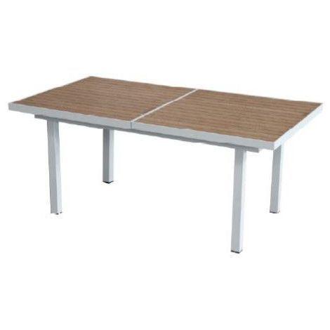 Tavoli Da Esterno In Alluminio.Tavolo Da Giardino Esterno Canazei Allungabile In Alluminio Bianco