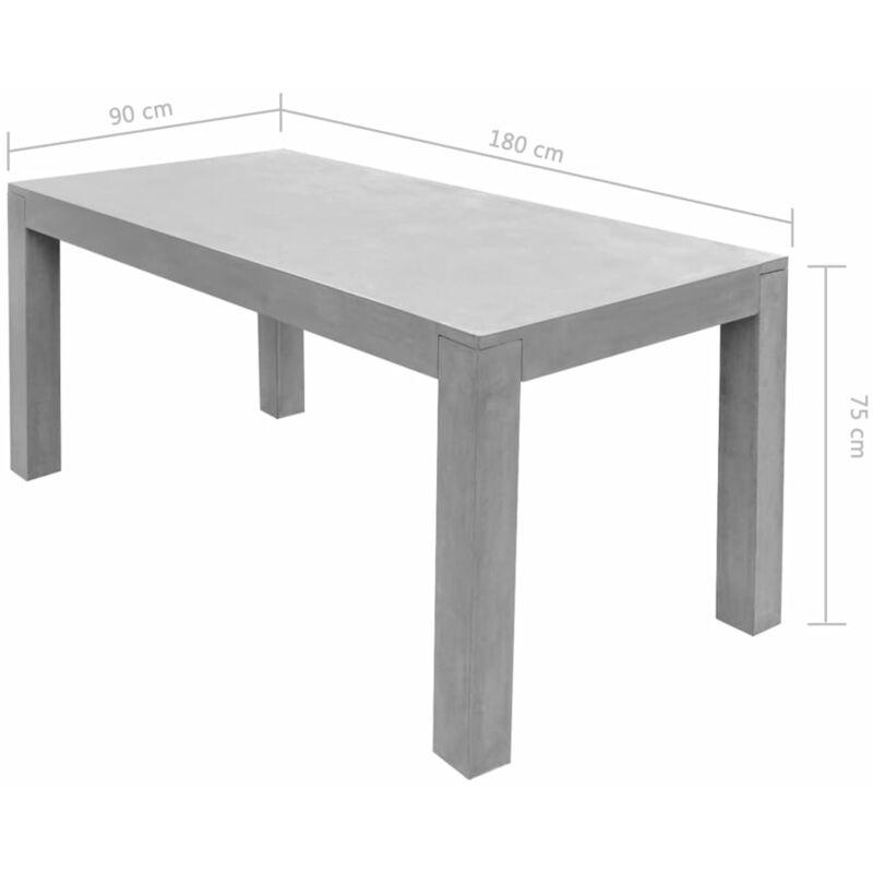 Tavoli Da Giardino In Cemento.Tavolo Da Giardino Grigio 180x90x75 Cm Cemento