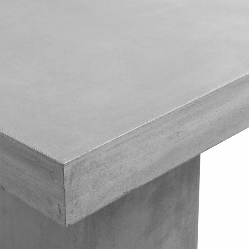 Tavoli Da Giardino In Cemento.Tavolo Da Giardino Grigio 80x80x75 Cm Cemento