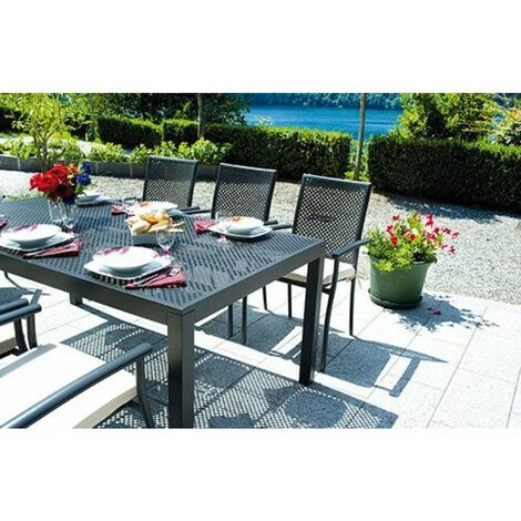 Tavoli Da Giardino In Alluminio.Tavolo Da Giardino In Alluminio Grigio Posillipo Rettangolare