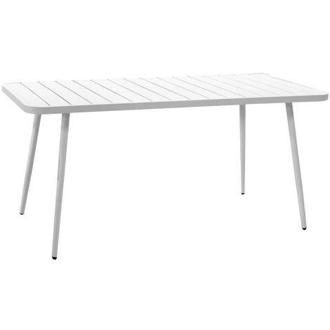 Tavoli Da Giardino In Alluminio.Tavolo Da Giardino In Alluminio Las Vegas Bianco