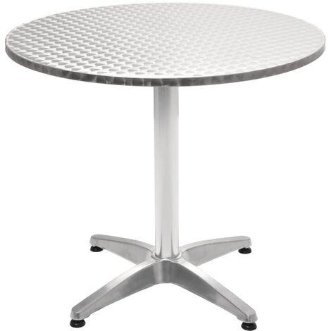 Tavolo Da Giardino Rotondo.Tavolo Da Giardino In Alluminio Rotondo 80x70 Cm