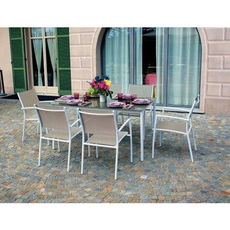 Tavoli Da Esterno In Alluminio.Tavolo Da Giardino In Alluminio Talamone Rettangolare 150x90 Cm