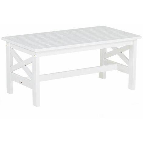 Tavolo Da Giardino Legno Bianco.Tavolo Da Giardino In Legno Bianco 100 X 55 Cm Baltic