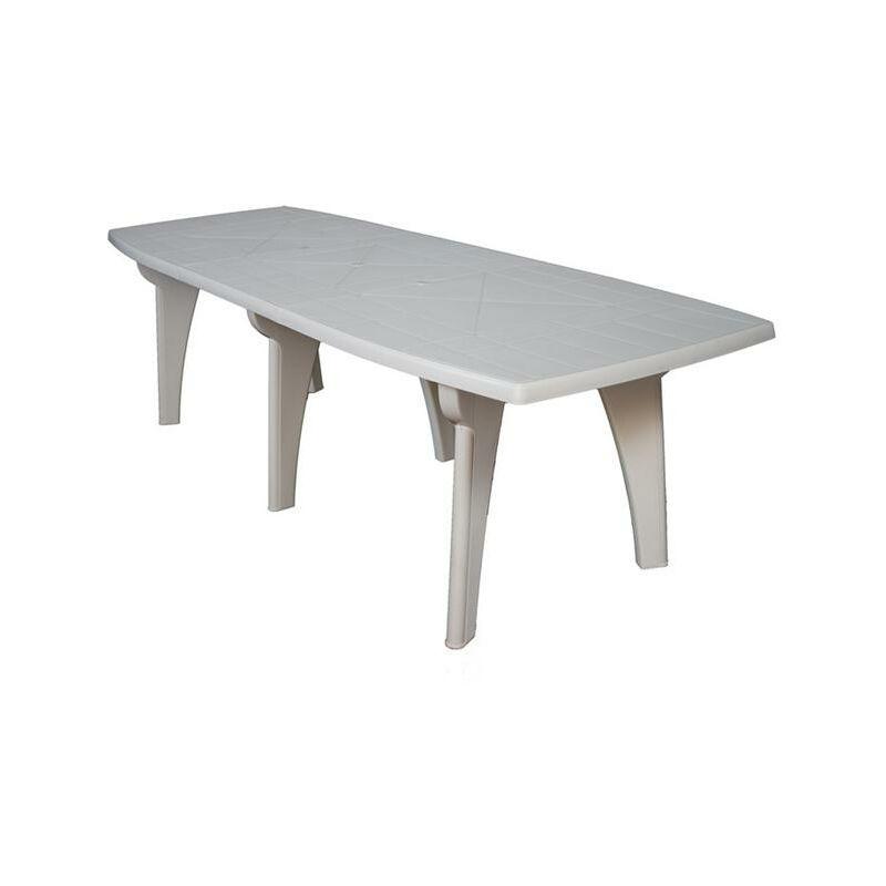 Tavolo da Giardino in Plastica rettangolare 250x90x72h ...