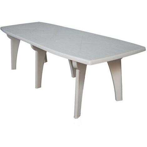 Tavoli Da Esterno In Plastica Allungabili.Tavolo Da Giardino In Plastica Rettangolare 250x90x72h Bianco Areta Lipari2