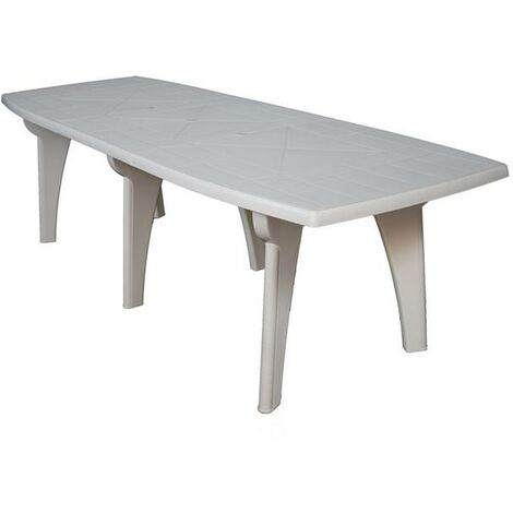 Tavoli Da Giardino In Plastica Allungabili.Tavolo Da Giardino In Plastica Rettangolare 250x90x72h Bianco Areta Lipari2