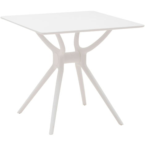 Tavoli Da Giardino In Polipropilene.Tavolo Da Giardino In Polipropilene 70x70x75 Cm Nuzzi Bill Bianco