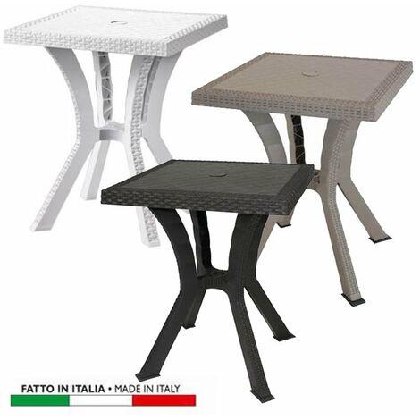 Tavolo Di Plastica Da Esterno.Tavolo Da Giardino In Resina Mod Rigoletto Colore Marrone Misura