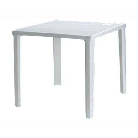 Tavolo Resina Bianco.Tavolo Da Giardino In Resina Mod Rodi Quadrato Bianco 80x80xh 73 Cm