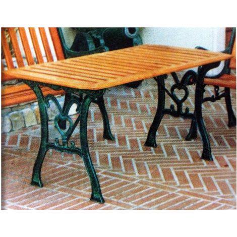 Tavoli In Ghisa Da Giardino.Tavolo Da Giardino Mimosa In Ghisa E In Legno 119x63xh65 Cm 9120
