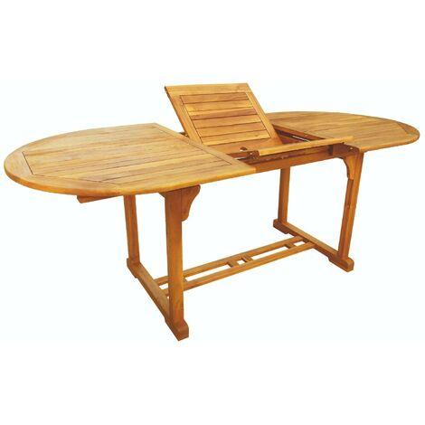 Tavoli Da Giardino Allungabili In Legno.Tavolo Da Giardino Ovale Allungabile 240x100 Cm In Legno Di Acacia