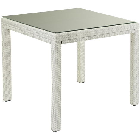 Tavolo Da Giardino Bianco.Tavolo Da Giardino Quadrato 80x80cm In Polyrattan Adami Adila