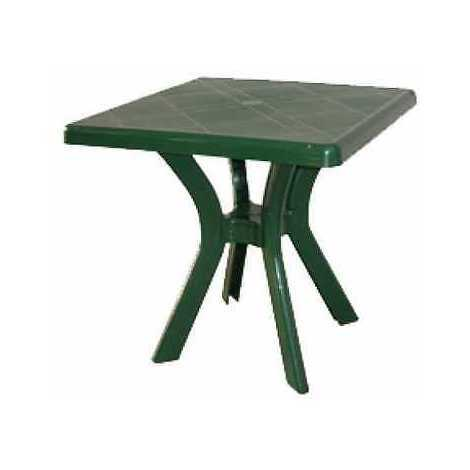 Tavoli Verde Da Giardino.Tavolo Da Giardino Quadrato In Resina 75 Centimetri Verde