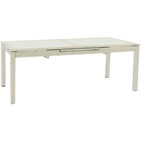Tavolo Arno PVC 82 x 47 cm Bianco Ipae-Progarden S.P.A
