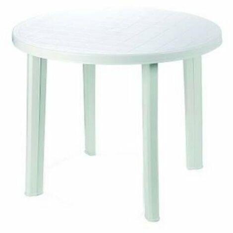 Tavolo Da Giardino Tondo.Tavolo Da Giardino Tondo Bianco