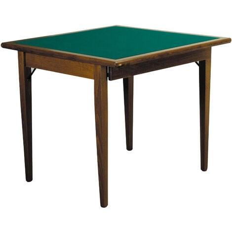 Tavolo Da Poker Legno.Tavolo Da Gioco Quadrato Pieghevole 90x90 Cm In Legno Panno Verde Del Fabbro Poker