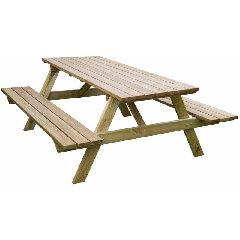 tavolo da pic nic in legno di pino impregnato in autoclave 180 x 160 x 71