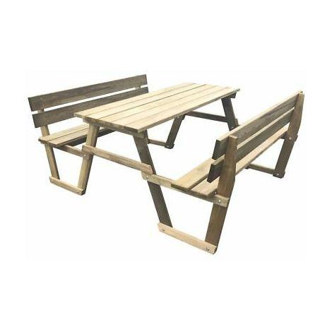 Tavolo Da Giardino In Legno Con Panchine.Tavolo Da Picnic Giardino Campeggio Con 2 Panche In Legno Di Pino