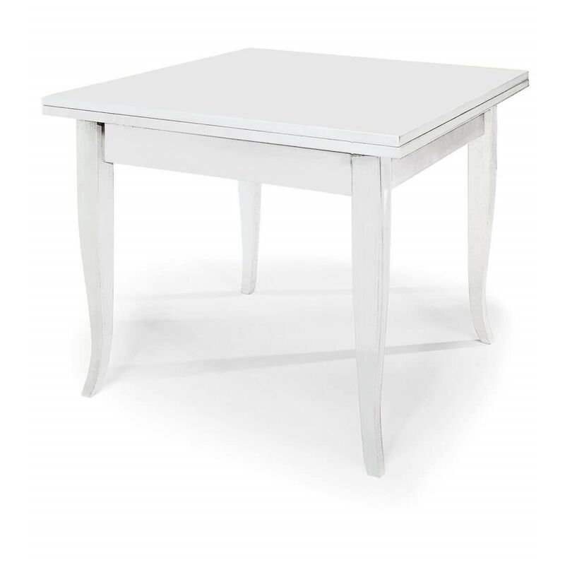 Tavolo Da Pranzo Allungabile Apribile A Libro Bianco Cm 80 ...
