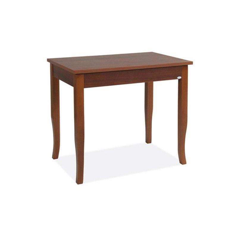 Tavolo Quadrato Antico Allungabile.Tavolo Da Pranzo Allungabile Colore Noce Antico Legno Nobilitato