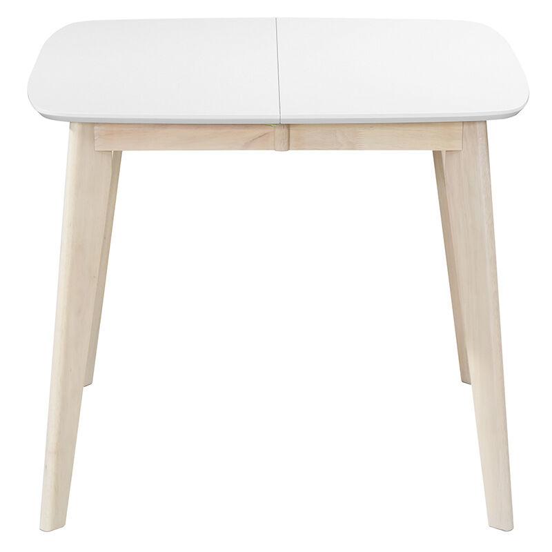 Tavolo In Legno Quadrato Allungabile.Tavolo Da Pranzo Allungabile Scandinavo Quadrato Bianco E Legno